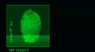 Stock Video Footage of thumb print search horizontal