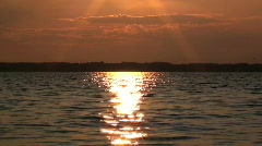 Water Surface in the Sunset Stock Footage