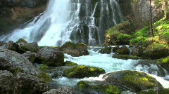 Waterfall at the European Alps - stock footage