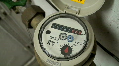 Water Meter Stock Footage