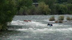 river raft flips part 1 - stock footage