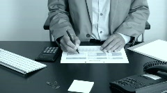 Businessman Working Stock Footage