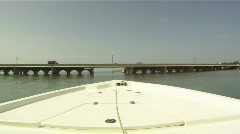Boat under Draw Bridge - stock footage