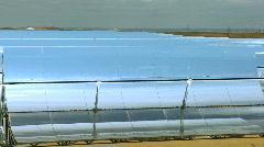 Parabolic Trough Solar Energy Panels Stock Footage