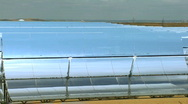 Stock Video Footage of Parabolic Trough Solar Energy Panels