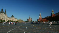 Red Square in Moscow, Russia. Stock Footage