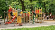 New children's playground Stock Footage