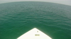 Boat Speed P.O.V. Stock Footage