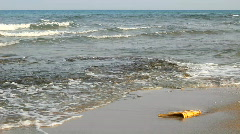Morning Mediterranean Sea. Pollution. Stock Footage