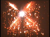 Stock Video Footage of Retro Cine - Fireworks
