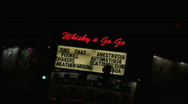 Stock Video Footage of Whisky a Go Go 01 HD