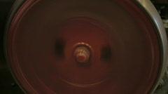 Mechanical spinning wheel Stock Footage