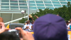 LA Lakers 2010 Championship Parade, Kobe Bryant 02 Stock Footage