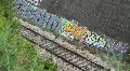 Train and  Grafitti Wall HD Footage
