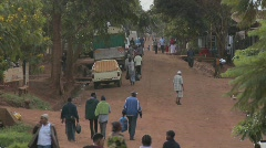 A typical village scene in Africa. Stock Footage