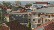 Stock Video Footage of An establishing shot from a high angle of Stone Town, Zanzibar.