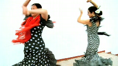 Traditional Flamenco Dancers Stock Footage