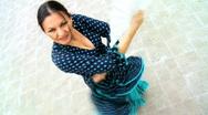 Traditional Flamenco Dancer Stock Footage