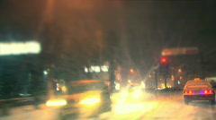 Night trip - stock footage