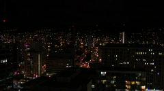 Honolulu Oahu Hawaii - Night-MediumShot-NoSound Stock Footage