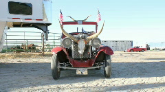 Rodeo clown car front view HD303 Stock Footage