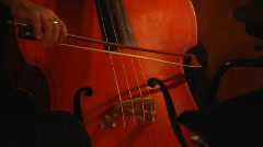Musician playing contrabass bow concert Stock Footage