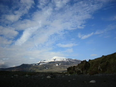 Clouds over Snaefellsjökull Glacier Stock Footage