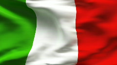 Textured ITALIAN cotton flag with wrinkles and seams Stock Footage