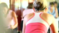Stock Video Footage of Spin Class Women 1