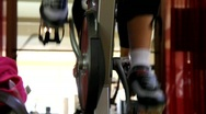 Spin Class Feet Stock Footage