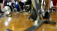 Busy Spin Class Stock Footage