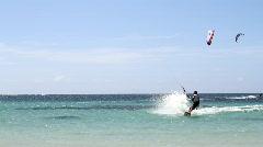 Kiteboarding ocean Dominican Republic Stock Footage