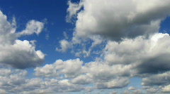 Timelapse clouds in summer sky during sunny day Stock Footage