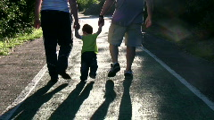 Family in the park - stock footage