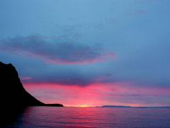 Kirkjufell Rose Blue Sunset Stock Footage