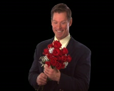 Man with Roses Stock Footage
