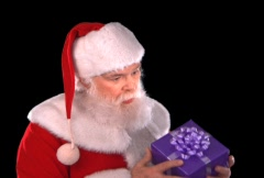 Santa with Gift - stock footage
