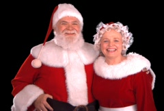 Santa & Mrs. Claus - stock footage