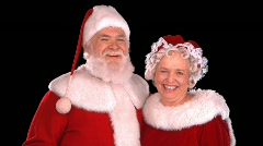 Santa & Mrs. Claus Close Up - stock footage