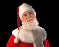 Santa Laughing Close Up - stock footage