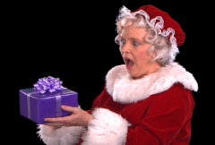 Mrs. Claus Smiling Close Up - stock footage