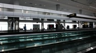 Airport moving walkway1 Stock Footage