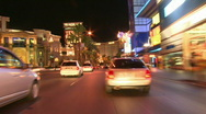 Vegas Tracers Strip Night Drive - 02 Stock Footage