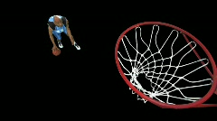 Basketball Player dribble/dunk - stock footage