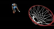 Stock Video Footage of Basketball Player dribble/dunk