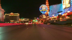 Vegas Tracers Strip Night Drive - 03 - stock footage
