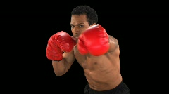 Boxer punching Close Up - stock footage