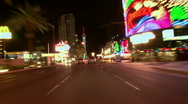 Stock Video Footage of Vegas Tracers Strip Night Drive - 05