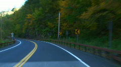 Autumn Road Driving Leaves 01 Stock Footage