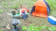 Stock Video Footage of Toys Camping Time Lapse